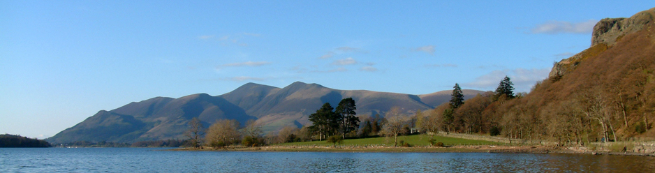 Skiddaw and Derwentwater from Borrowdale
